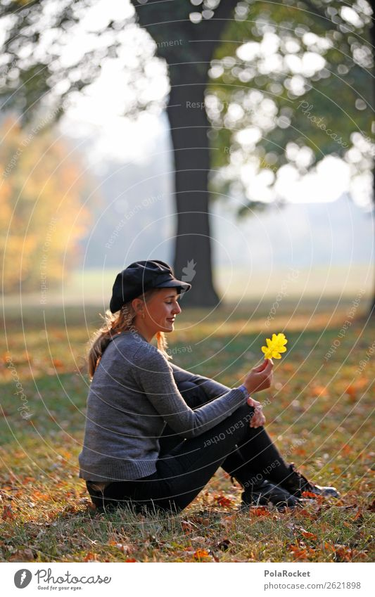 #A# Leaf catcher Feminine 1 Human being Esthetic Autumn Autumnal Autumn leaves Autumnal colours Early fall Automn wood Autumnal weather Autumn wind Maple leaf