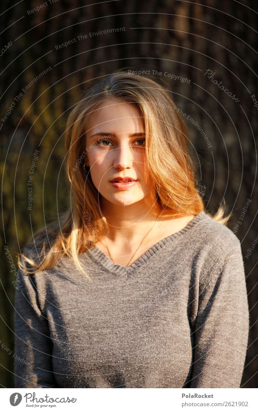 #A# Autumn light Feminine 1 Human being Esthetic Woman Posture Fashion Model Manikin Face of a woman Friendliness Hair and hairstyles Colour photo