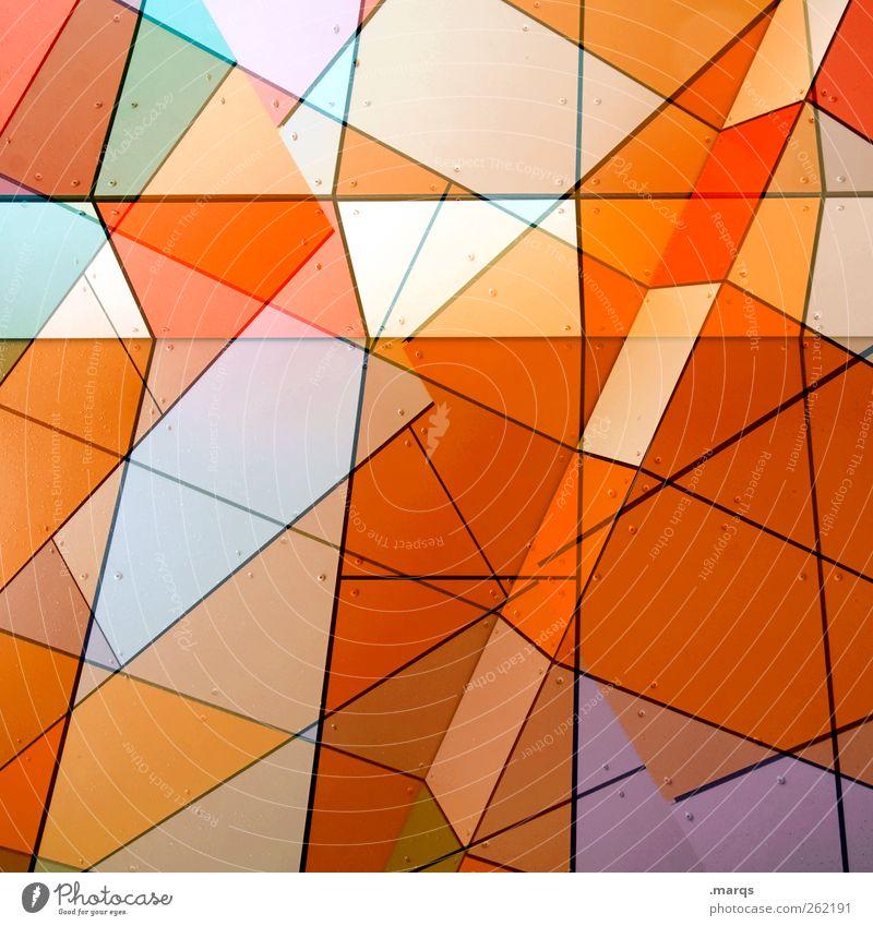 Colour Style Line Art Orange Facade Arrangement Design Modern Exceptional Crazy Perspective Decoration Illuminate Uniqueness Illustration