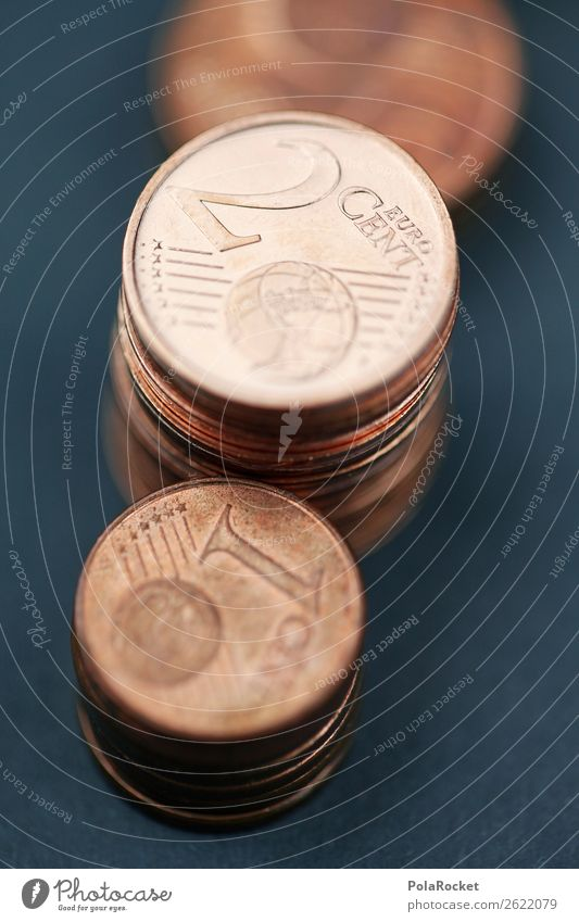 #A# CopperMoney Art Esthetic Coin Münzenberg Cent Euro Pocket money Few Colour photo Subdued colour Interior shot Studio shot Close-up Detail Experimental