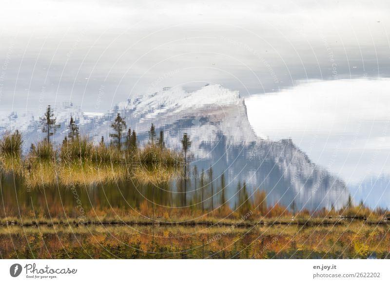 Sky Vacation & Travel Nature Landscape Loneliness Calm Mountain Autumn Sadness Lake Rock Trip Dream Bushes Peak Grief