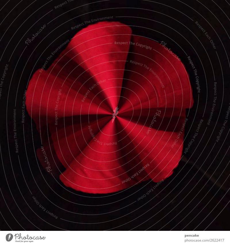 simsalabim Elegant Design Ornament Movement Drape Rotate Folds Cloth Magic Red Black Round Wheel Windmill Colour photo Interior shot Close-up Experimental