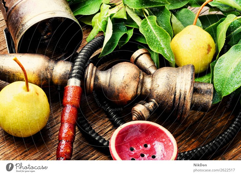Eastern shisha with pear hookah fruit tobacco nargile smoke nicotine smoking east relaxation arabic mouthpiece deluxe pipe fragrant hookah with pear style