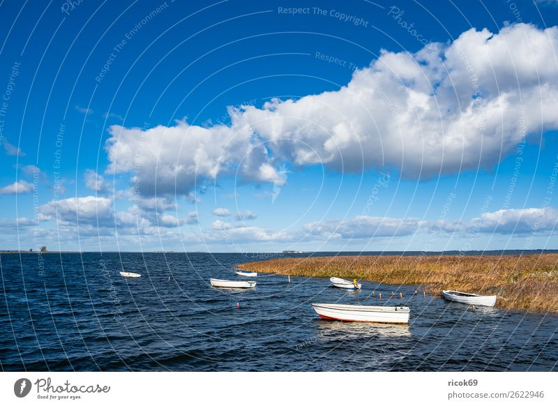 Vacation & Travel Nature Blue Water Landscape Relaxation Clouds Architecture Yellow Environment Coast Tourism Watercraft Idyll Tourist Attraction Harbour