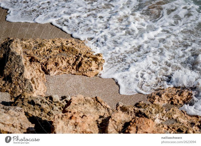 Beach at Crete in Summer crete greece summer vacation Mediterranean ocean beach shore rock water sun sunny sunlight sky warm blue view scenic sight scenery