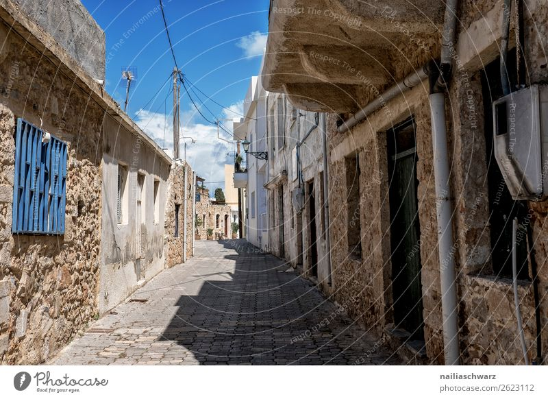 small alley, Crete Lifestyle Vacation & Travel Tourism Trip Far-off places Summer Summer vacation Greece Village Small Town Old town Overpopulated