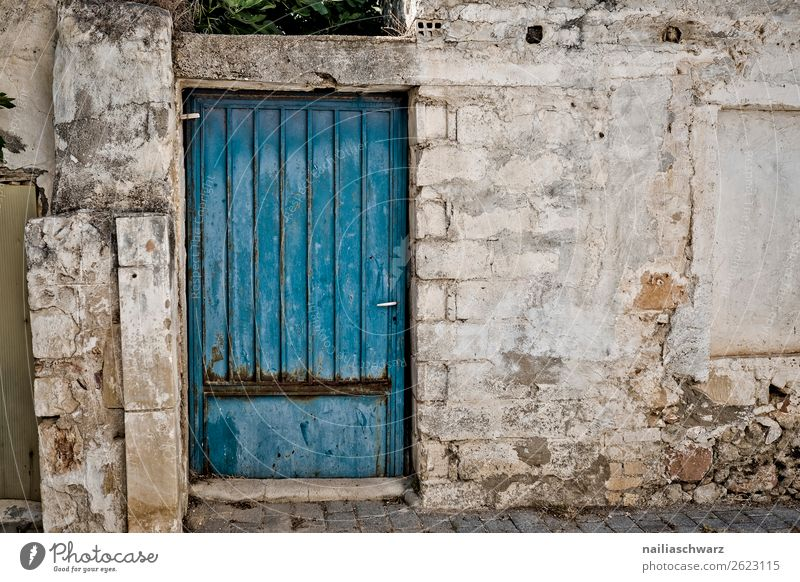 door Vacation & Travel Summer Nature Crete Greece Village Town Old town House (Residential Structure) Building Architecture Wall (barrier) Wall (building)
