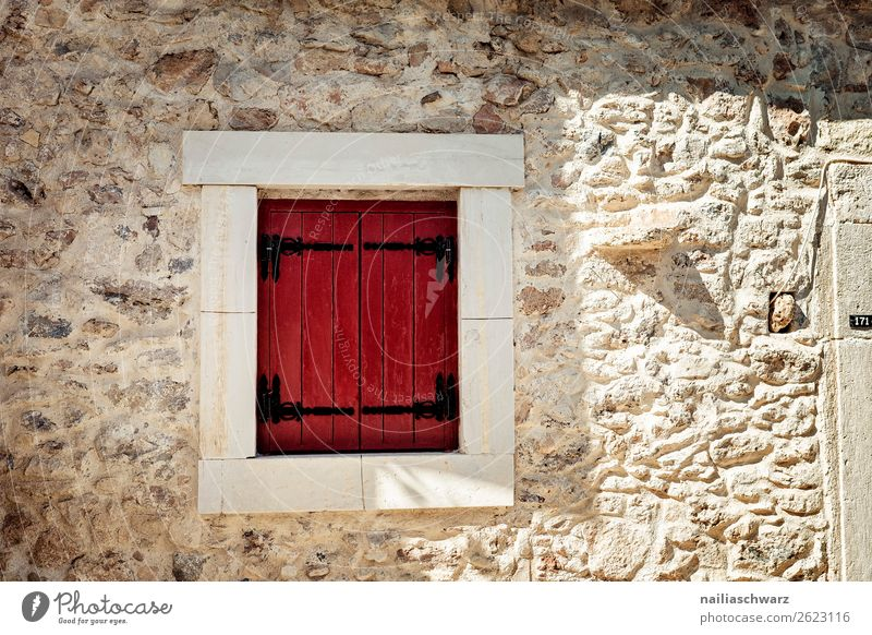 windows Vacation & Travel Summer Crete Greece Village Small Town House (Residential Structure) Architecture Wall (barrier) Wall (building) Facade Window Shutter