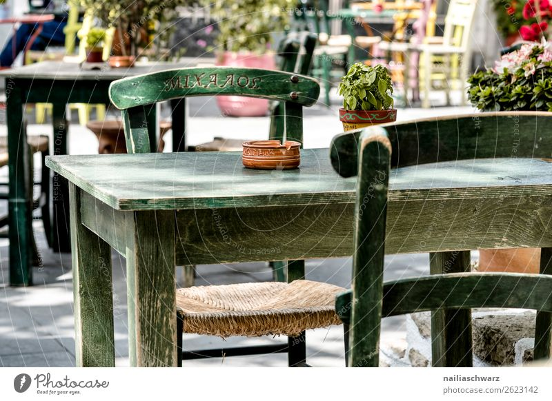 Vacation & Travel Nature Summer Beautiful Wood Warmth Tourism Europe Table Idyll Chair Summer vacation Gastronomy Village Pure Restaurant