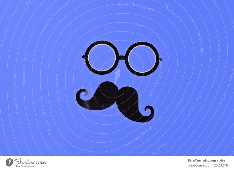 November is prostate cancer awareness month Face Health care Medical treatment Masculine Man Adults Eyeglasses Moustache Blue Protection Hope Cancer Awareness