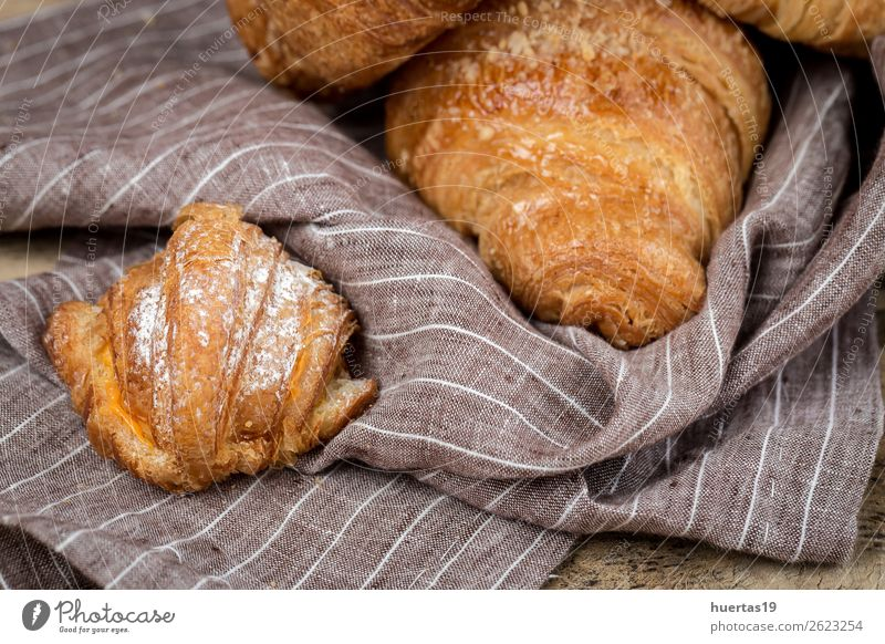freshly baked buns with almonds.Croissants Food Roll Dessert Candy Breakfast Delicious Tradition brioches cake Bakery Home-made sweet Snack French Sugar yummy