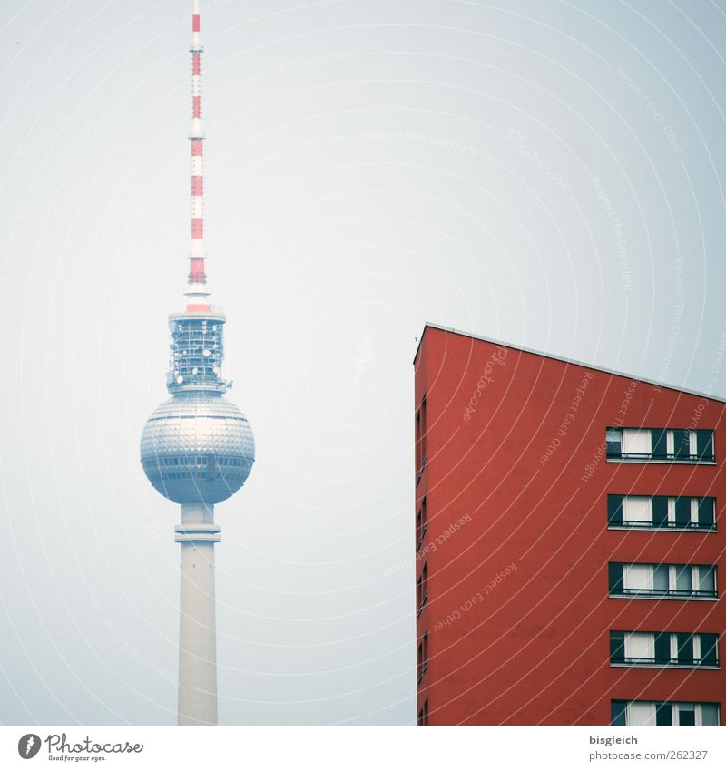 Red Berlin Gray Europe Federal eagle Landmark Downtown Capital city Tourist Attraction Berlin TV Tower Television tower Alexanderplatz