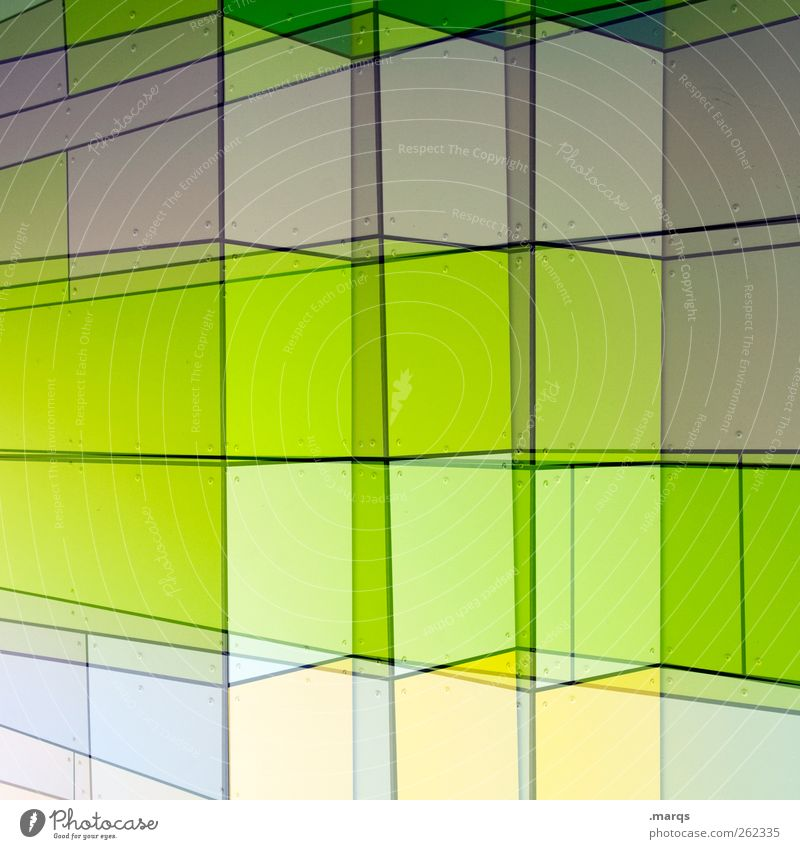 Green Colour Style Line Bright Facade Exceptional Design Modern Growth Illuminate Future Cool (slang) Uniqueness Illustration Dynamics