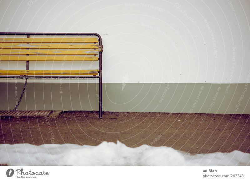 The centenarian who left the bank to save the world. Winter Snow Park Wall (barrier) Wall (building) Bench Park bench Gloomy Town Loneliness Relaxation