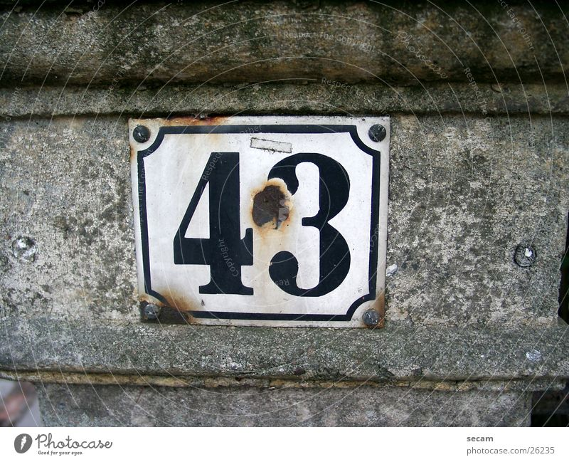 Old Wall (building) Stone Living or residing Tin House number