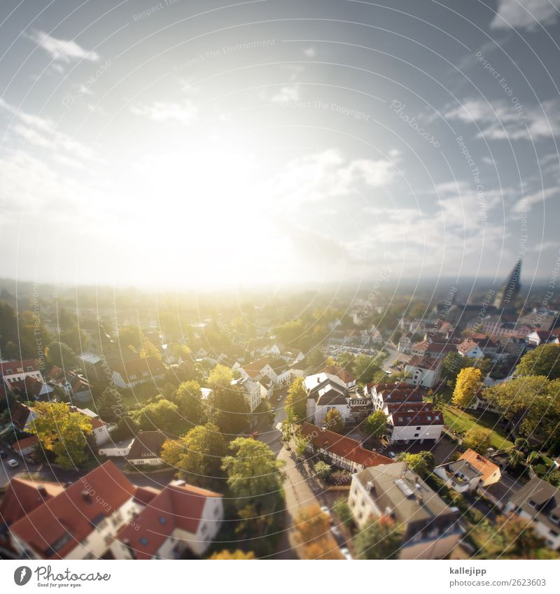 Human being Town Sun Far-off places Building Small Germany Europe Church Places Tower Peoples Skyline Old town Village Living room