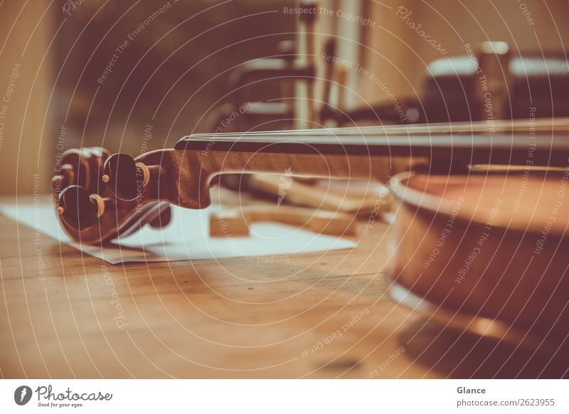 Coherent Art Music Violin Wood Old Esthetic Long Beautiful Brown Black Moody Senior citizen Design Elegant Culture Precision Calm Value Workbench tool Accord
