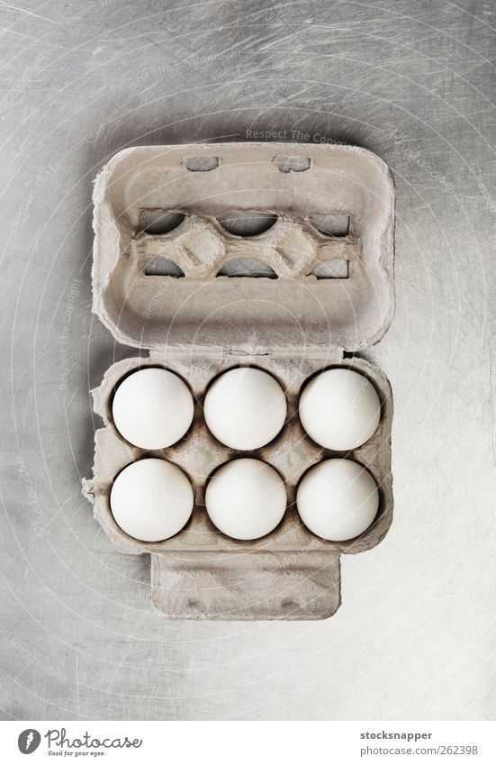 Eggs White Food Open Carton Package Packaged