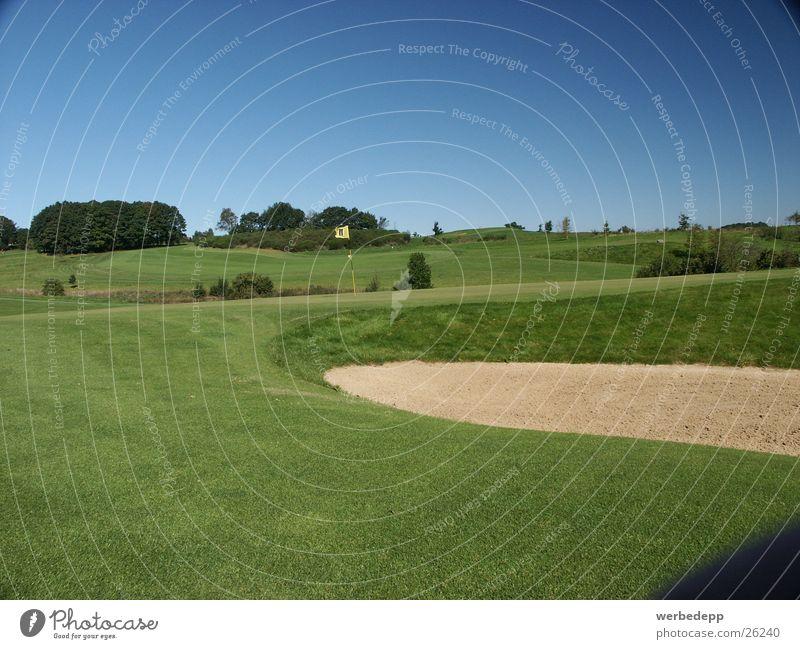 Sky Green Meadow Grass Mountain Sand Golf Sauerland