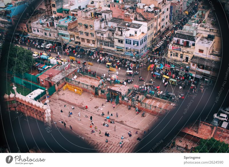 WUSEL picture Human being Life Crowd of people Capital city Downtown Overpopulated House (Residential Structure) Transport Road traffic Traffic jam Motorcycle