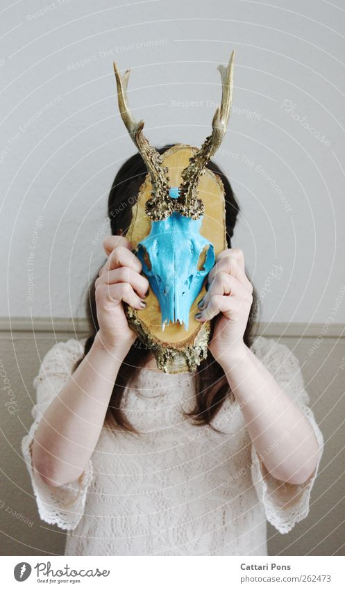 Human being Blue Animal Death Feminine Wood Bright Gold Wild Wild animal Uniqueness Soft Dress To hold on Thin Brunette