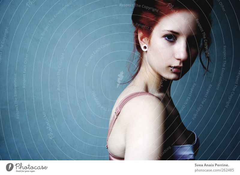 light and shadow. Feminine Young woman Youth (Young adults) Hair and hairstyles Face 1 Human being 18 - 30 years Adults Wall (barrier) Wall (building) Fashion