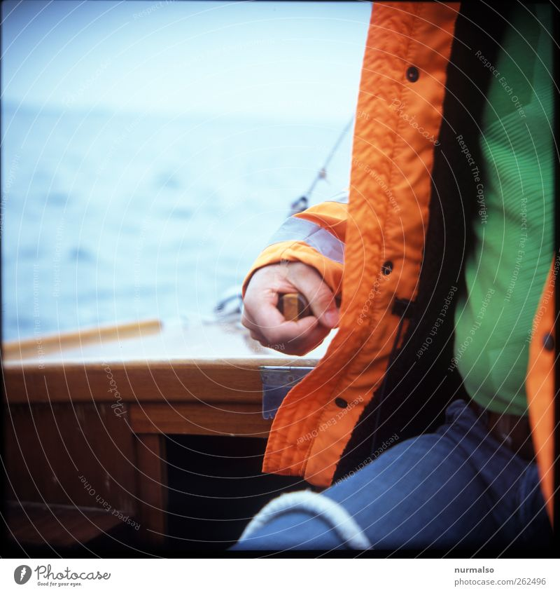 helmsman Lifestyle Leisure and hobbies Sports Aquatics Sailing Sporting Complex Human being Chest Arm Hand Fingers Stomach 1 Nature Baltic Sea Ocean Navigation
