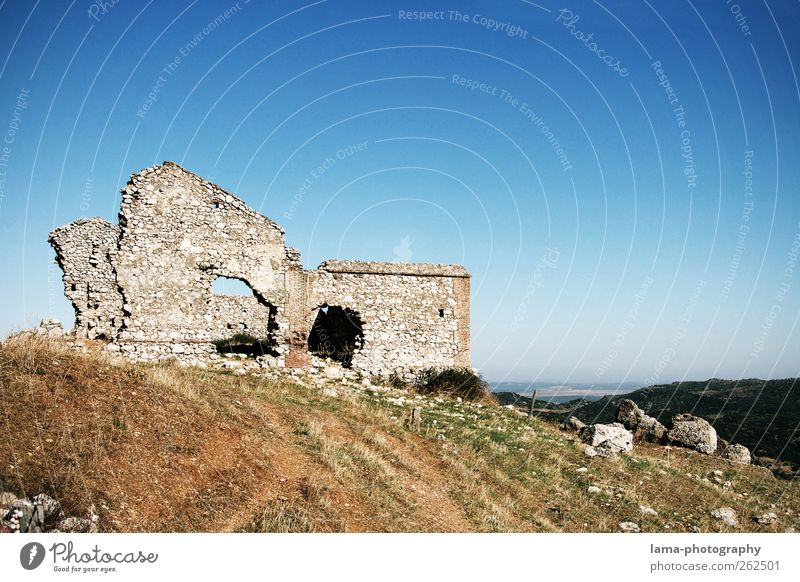Nature Old House (Residential Structure) Landscape Gray Building Rock Trip Transience Hill Manmade structures Derelict Past Decline Ruin Spain