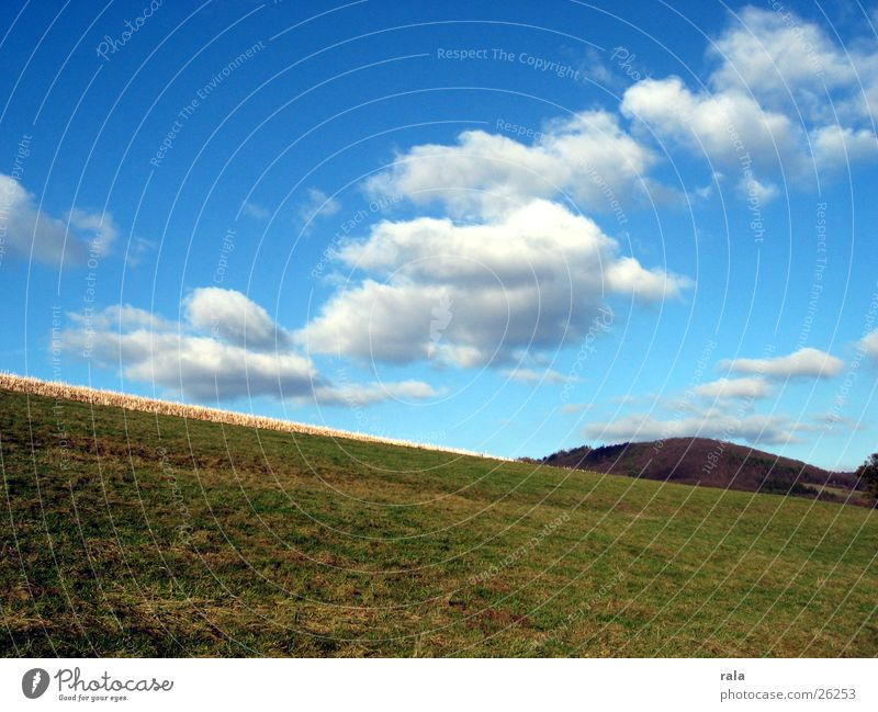 Nature Sky Clouds Meadow Landscape Air Field Hill Pasture