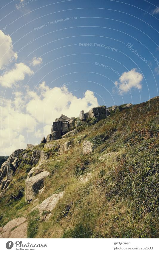 Sky Nature Plant Summer Clouds Environment Meadow Landscape Autumn Grass Stone Rock Tall Climbing England Go up