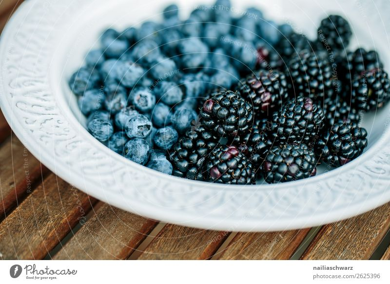 blueberries Food Fruit Blueberry Blackberry Nutrition Organic produce Vegetarian diet Crockery Plate Bowl Lifestyle Healthy Healthy Eating Summer Fresh