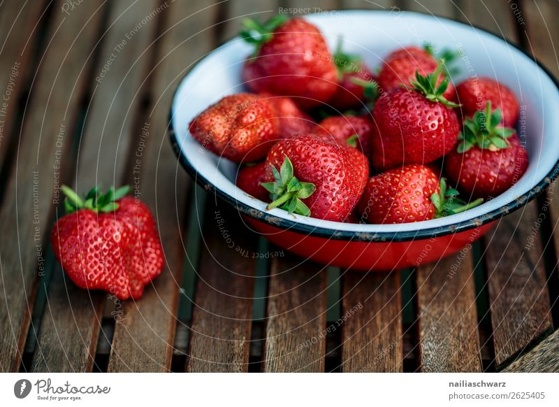 strawberries Food Fruit Strawberry Nutrition Organic produce Vegetarian diet Fasting Bowl Lifestyle Healthy Healthy Eating Fitness Summer Agriculture Forestry