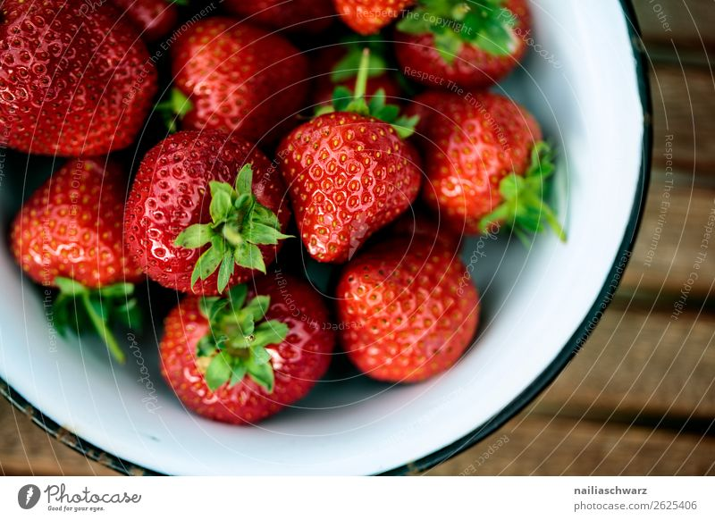 Summer summer. Food Fruit Dessert Strawberry Berries Nutrition Organic produce Vegetarian diet Diet Bowl Agriculture Forestry Health care Fragrance Glittering