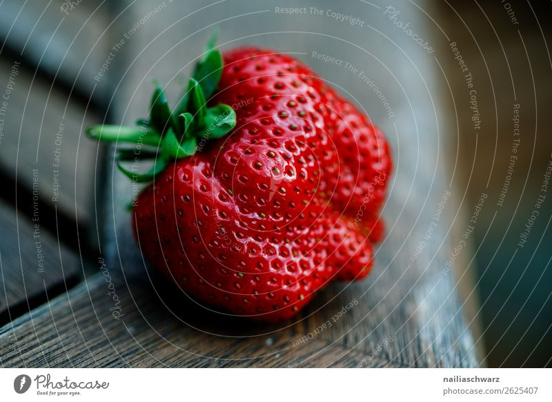 strawberry Food Fruit Dessert Strawberry Nutrition Organic produce Vegetarian diet Diet Healthy Healthy Eating Table Wood Fragrance Natural Juicy Sweet Gray Red