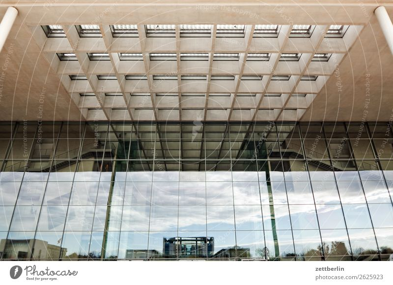 Paul-Löbe-Haus again Architecture Berlin Reichstag Office City Germany Worm's-eye view Capital city Paul Löbe House paul lobe Downtown Berlin Modern