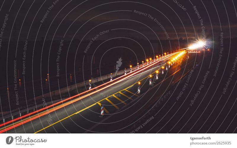 construction site Transport Means of transport Traffic infrastructure Passenger traffic Motoring Street Highway Vehicle Stone Driving Dark Town Orange Red