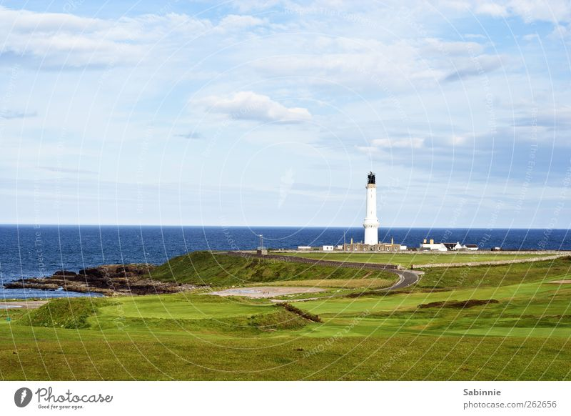 Aberdeen Environment Nature Landscape Sky Clouds Climate Beautiful weather Grass Coast North Sea Scotland Deserted House (Residential Structure) Lighthouse