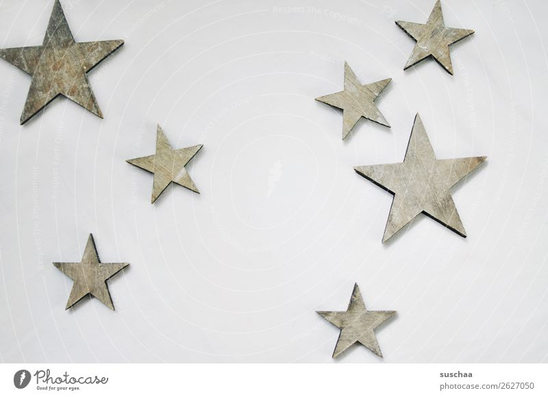 stars Star (Symbol) Neutral Background White Symbols and metaphors Christmas & Advent Decoration Feasts & Celebrations Tradition Simple Wood wooden star 7
