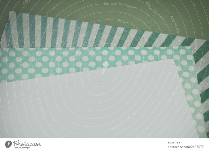 Green Leaf Copy Space Communicate Paper Information Write Analog Piece of paper Old fashioned Salutation Notepaper