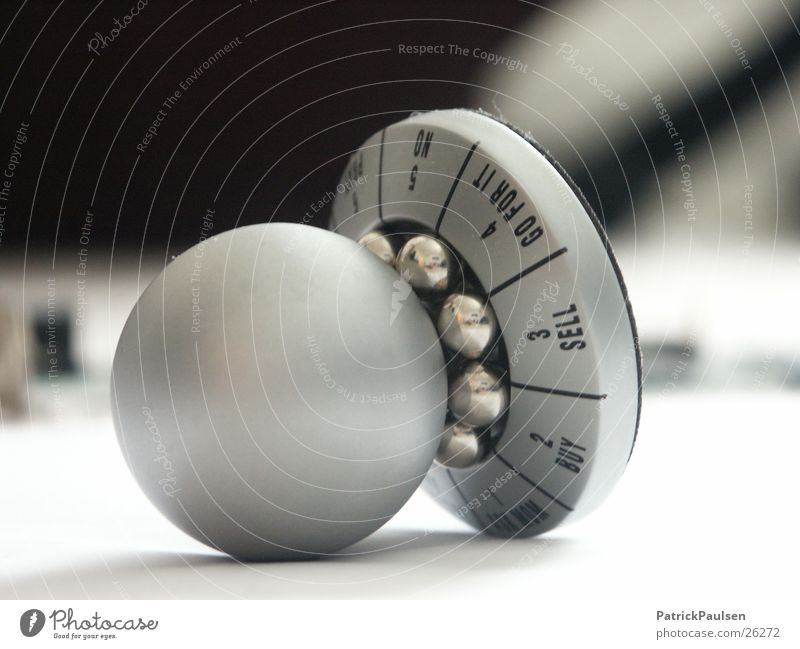 Decision Aids2 Decoration Kitsch Odds and ends Select Rotate Silver White Selection decision aide Decide Black & white photo Sphere Ball bearing