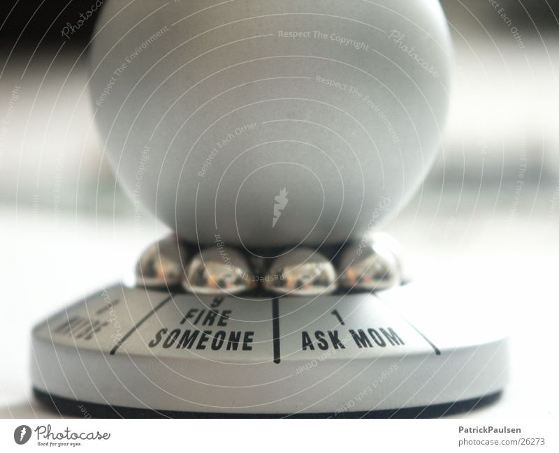 Future Kitsch Decoration Toys Sphere Rotate Silver Select Decision Decide Responsibility Selection Indecisive Odds and ends Coincidence Accidental