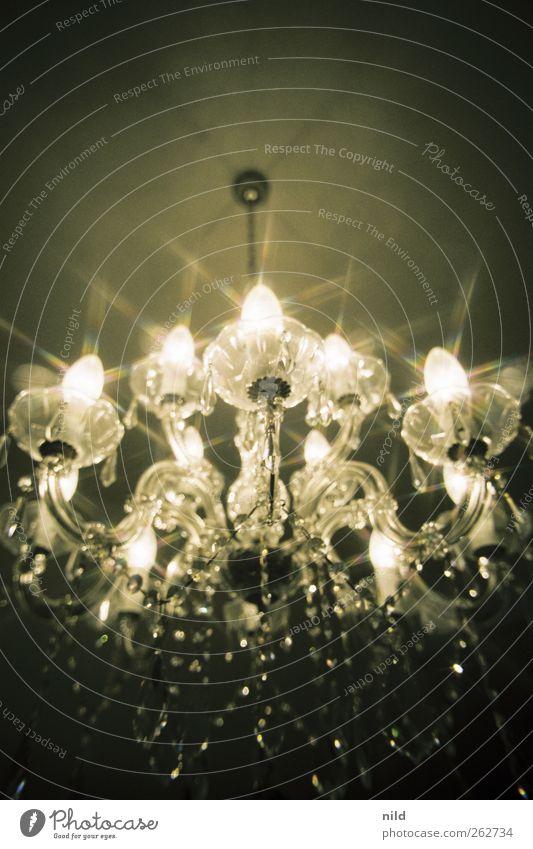 Style Metal Lamp Interior design Glass Elegant Glittering Design Illuminate Kitsch Luxury Silver Chandelier Ceiling light
