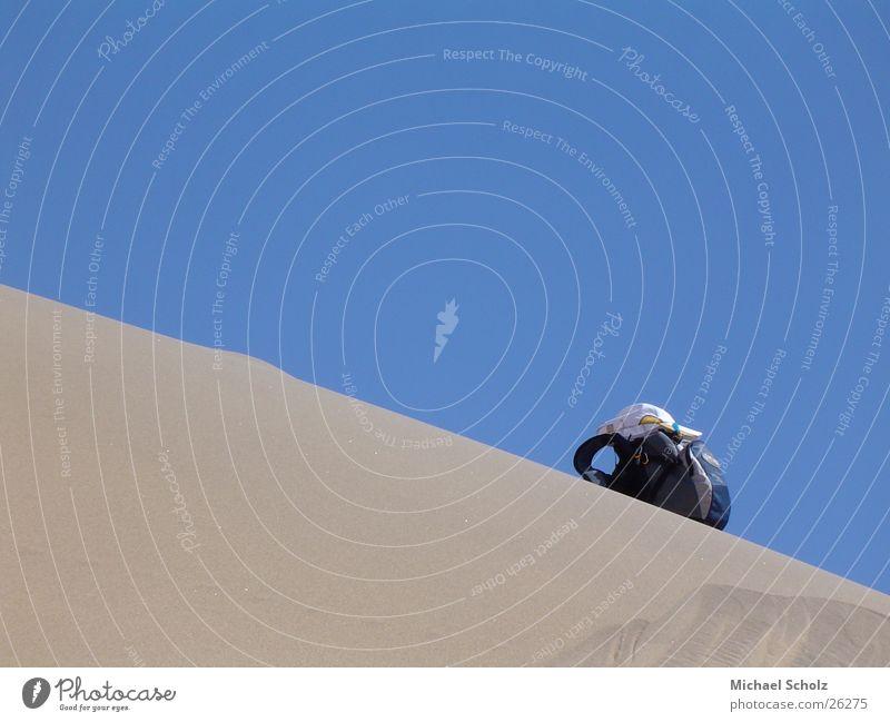Blue Loneliness Sand Desert Beach dune Doomed Backpack