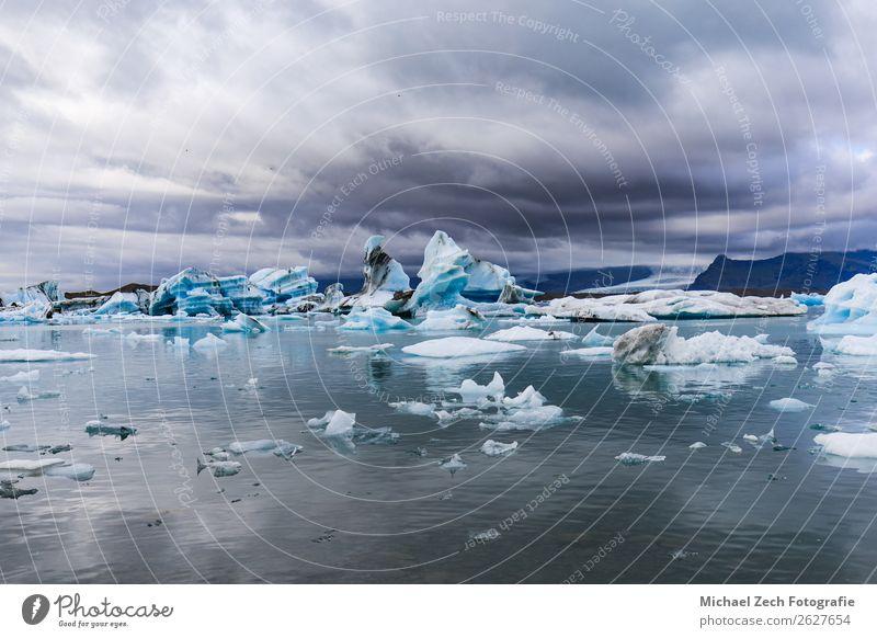 Icebergs in jokulsarlon glacial lagoon vatnajokull Sky Vacation & Travel Nature Blue Beautiful Landscape White Ocean Beach Mountain Natural Snow Tourism Lake