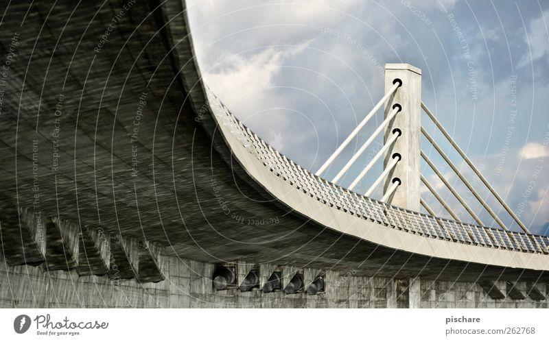 under the bridge Bridge Architecture Overpass Curve Colour photo Exterior shot Deserted Day Gray Bridge construction