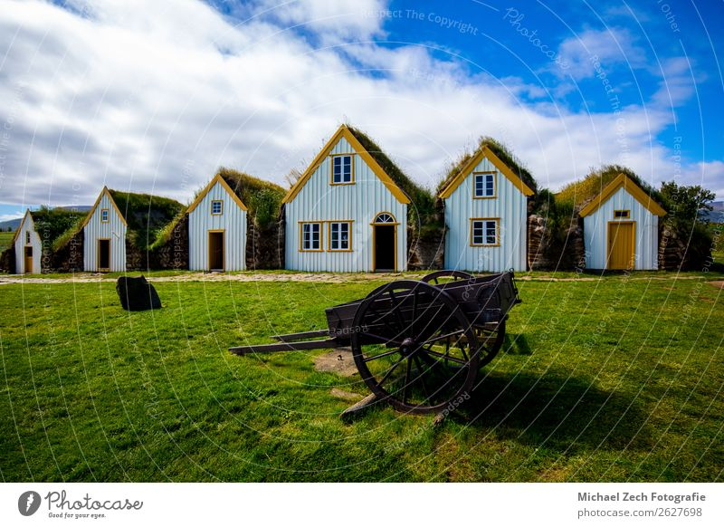 Glaumbaer Museum Iceland Vacation & Travel Tourism Summer House (Residential Structure) Landscape Sky Clouds Grass Moss Village Architecture Monument Old