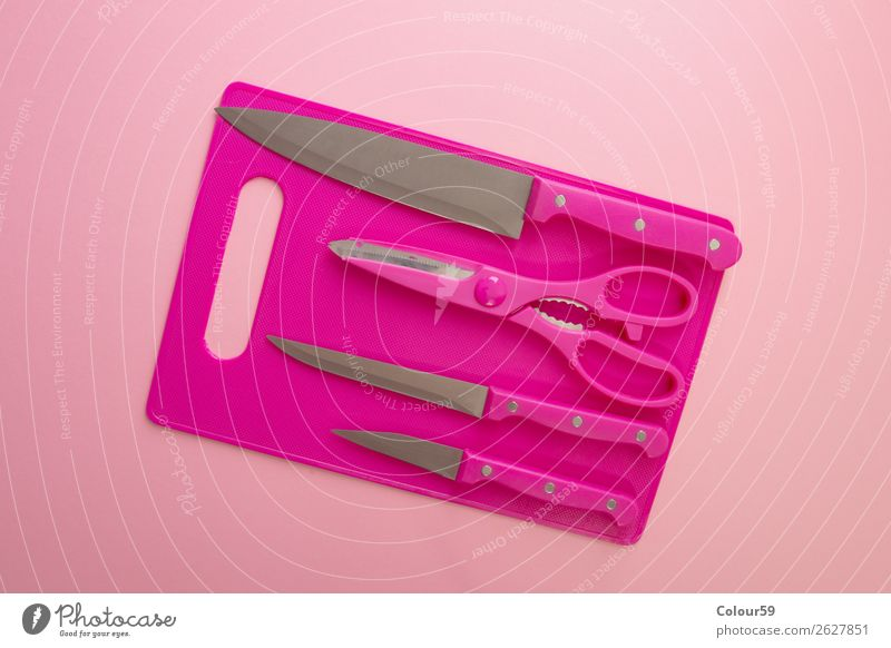 kitchen utensils Snowboard Pink Background picture steel set Equipment Blow Things Kitchen Household Knives Claw kitchen knife tart kitchen train kitchen board
