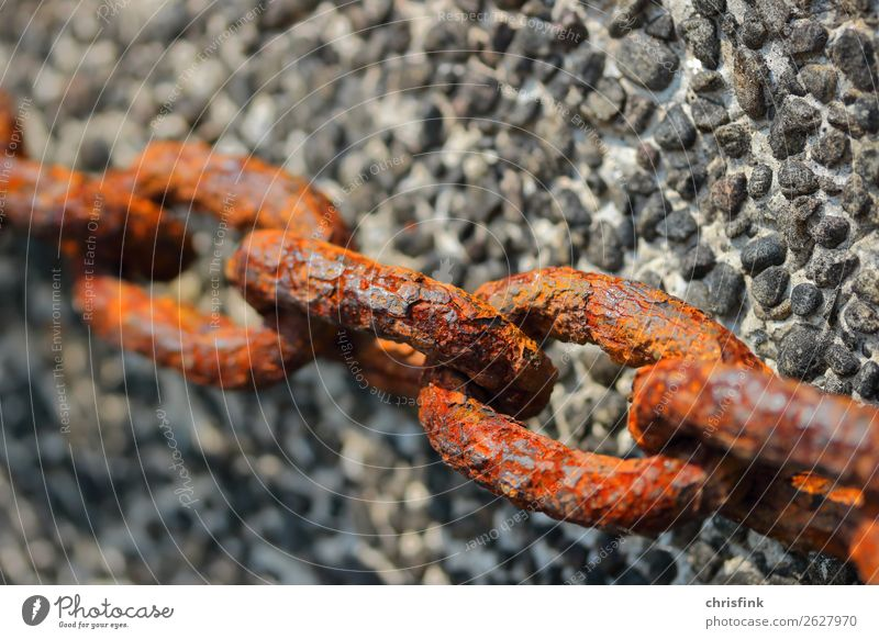 Rusty chain in front of wall Leisure and hobbies Vacation & Travel Trip Beach Ocean Waves Sports Aquatics Machinery Industry Nature Island Navigation Harbour