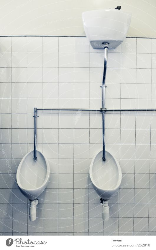 Old White Wall (building) Wall (barrier) Interior design Retro Clean Bathroom Tile Toilet Pipe Iron-pipe Urinal Public restroom