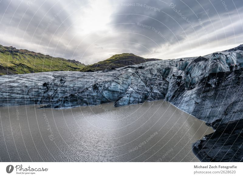 beautiful glacier structure on lagoon fjallsarlon in iceland Sky Vacation & Travel Nature Summer Blue Landscape White Clouds Mountain Snow Tourism Lake Trip